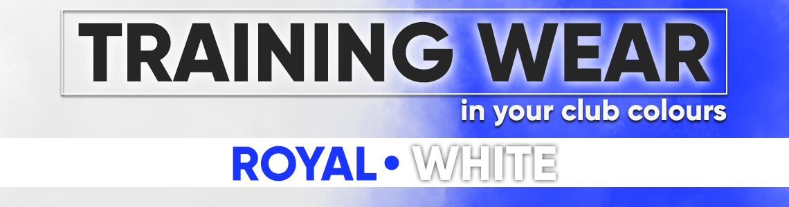 Training Wear In Royal White | Pendle Sportswear